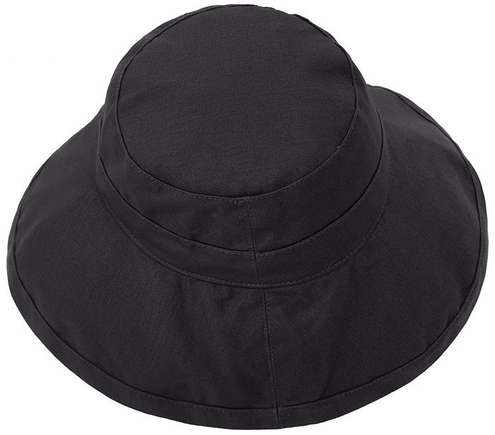 Custom beach hat women summer hats with wide brim sun hat plain black cap 100% cotton summer black beach hat.jpg