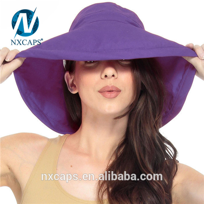 Custom beach hat women summer hats with wide brim sun hat cap 100% cotton summer beach hat Beach hat women baroque purple bucket hats wide brim sun cap.jpg