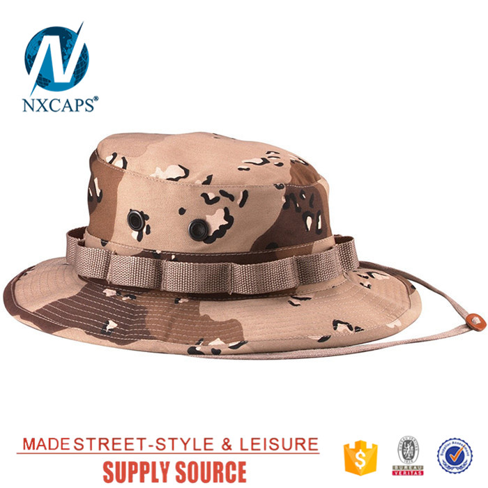 2017 Hot Sale Summer Men Military Bucket Hat with Strings Camping Hiking Travel Sniper Wide Brim basin cap fisherman hats.jpg