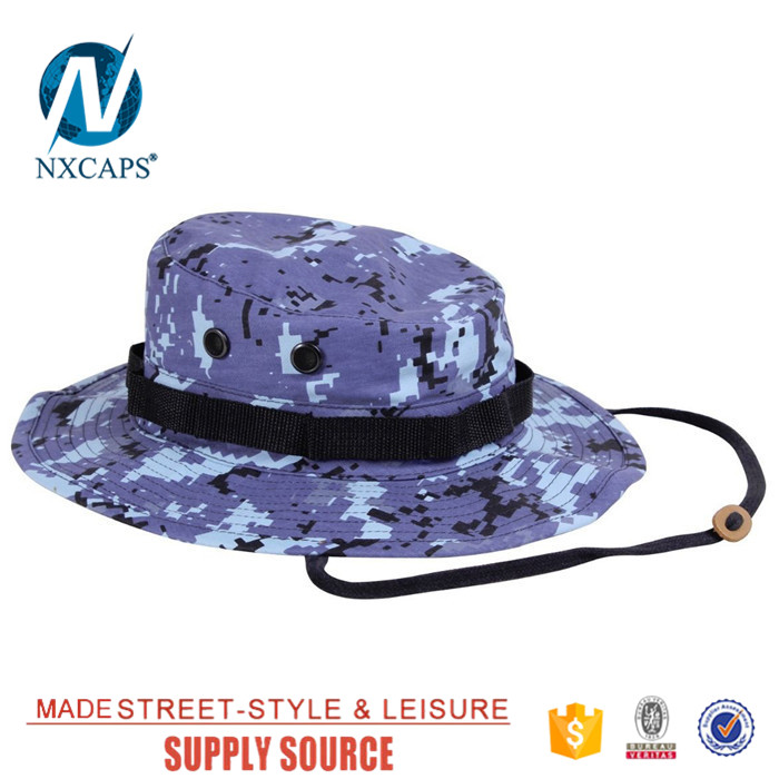 Custom printed bucket hats design your own boonie kids camo packable fisherman hat.jpg