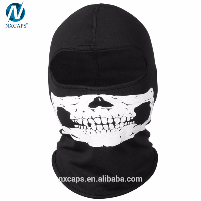 Custom print balaclava mask motorcycle skull face mask ski hood hat UV protect full face mask,custom balaclava mask,mask motorcycle,full face skull mask,nxcaps shenzhen fashion company