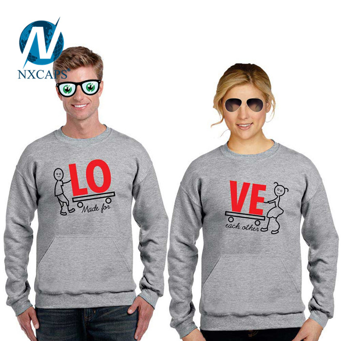Cartoon Couple Brushed Cotton T-Shirts Bulk Wholesale Unisex plain T-Shirts.jpg