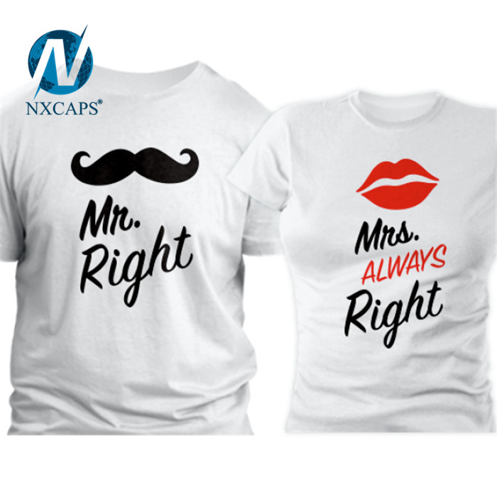 printing polyester couple t-shirt Latest America USA size couple lover t shirt