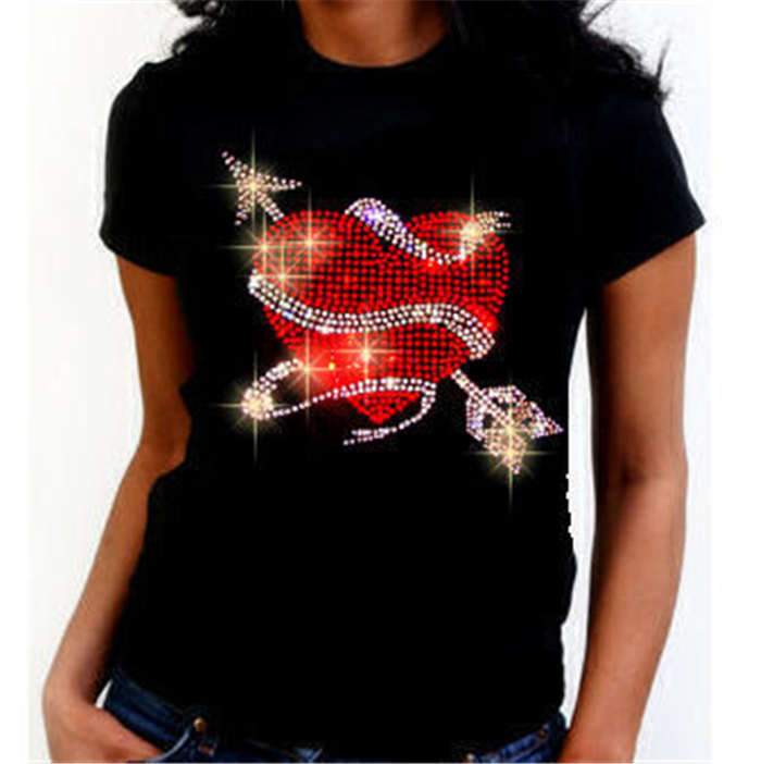 Custom gymnastics rhinestone bling t-shirt transfers wholesale bling t shirt wholesale of Lucky goat rhinestone hot fix transfer design