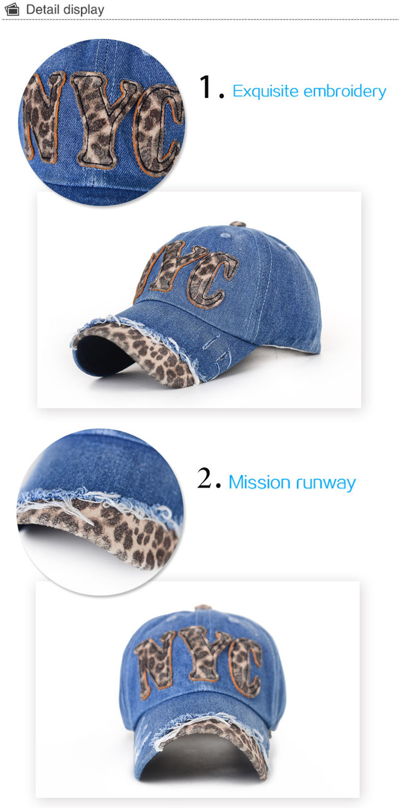 Baseball cap own leopard print new fashion unisex 6 panel plain blank NYC stylish flat brim tie dye snapback caps hats