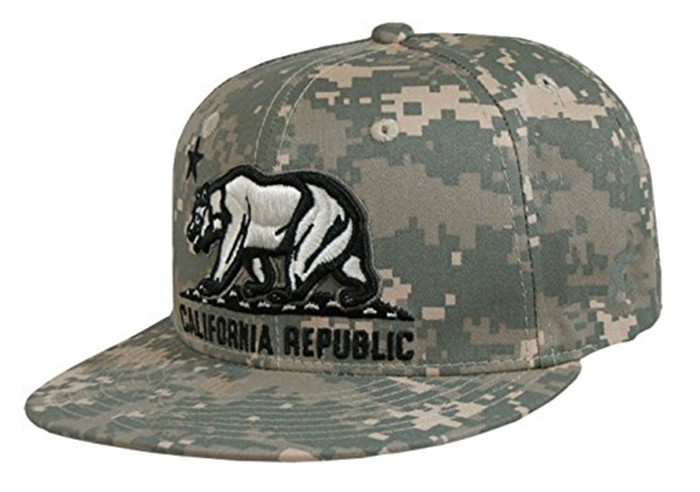 100 cotton camouflage snapback hat blank sports hats flat embroidery bear baseball cap