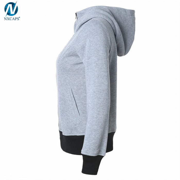 Solid color zipper hoodie high neck hoodies women comfy sweatshirt blank hooded sweatshirt,zipper hoodie,high neck hoodies,zipper high neck hoodie,Pocket Pullover Hoodies ,nxcaps shenzhen fashion company