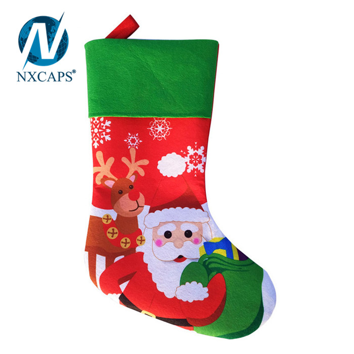 Christmas stocking Santa,Personalized Christmas Sock,Big Size Christmas Sock For Decoration,Hanging Christmas Socks,nxcaps