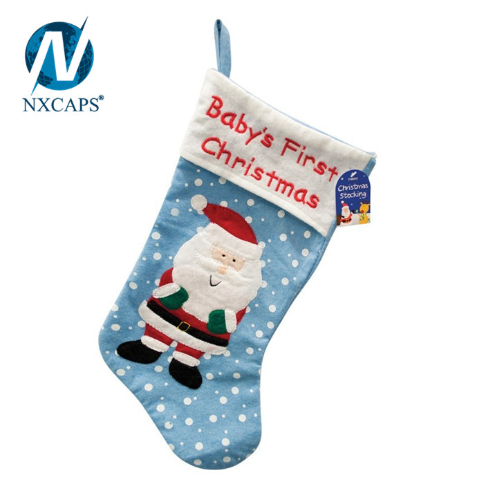 snowflake christmas stocking,stocking christmas, christmas decoration 2018,xmas gift.nxcaps
