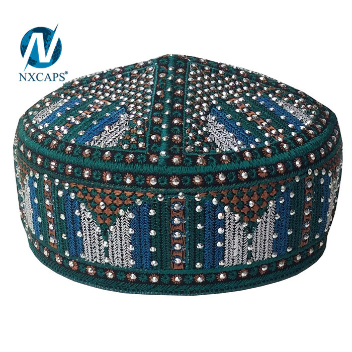 Embroidery full kufi Men muslim topi caps and hats Prayer kufi caps and hats